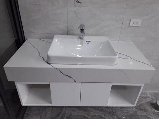 Mẫu bàn đá nhân tạo lavabo châu rửa đẹp mới nhất